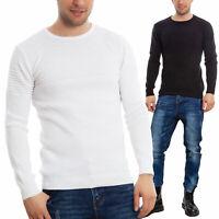 Maglione uomo slim fit righe girocollo pullover cotone TOOCOOL casual DC008