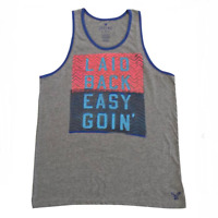 American Eagle Men's Printed Classic Fit Stretch Tank Top Gray Small NWT