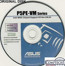 ASUS GENUINE VINTAGE ORIGINAL DISK FOR P5PE-VM Motherboard Drivers Disk  M817