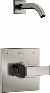 Delta T14267-SSLHD Ara 1-Handle Wall-Mount Shower Faucet Trim Kit in Stainless