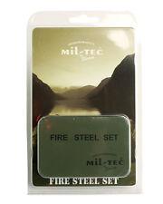 Mil-Tec Feuerstahl Set mit Behälter Fire Steel Anzündhilfe Feuerstein Zündstein