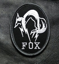 METAL GEAR SOLID FOX HOUND PS4 B/W EMBROIDERED HOOK TACTICAL PATCH (FX3)