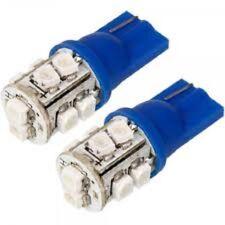 X2 AMPOULES T10 10 LED COULEUR BLEU, LUMIÈRES DE 10 LED IDÉAUX POUR VOITURE