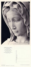 1960's BUST OF MADONNA IN OUR LADYs CHURCH BRUGES BELGIUM UNUSED POSTCARD