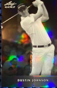 DUSTIN JOHNSON 2011 Leaf Golf Metal Black and White Prismatic 18/99 Masters RC
