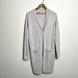 Laurence Tavernier Women's Size Medium Gray Knit Duster Cardigan *Marks *Pilling