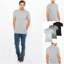 Brave Soul Cotton Patternless Short Sleeve T-Shirts for Men