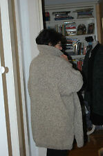 Hand Knitted jacket in Wool/Alpaca/Acrylic  Lagenlook Style.  Free Size