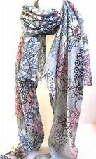 Châles/écharpe gris à motif Floral pour femme