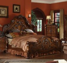 Dresden Formal Traditional Antique 1Pc Est King Bed Furniture Bedroom  Cherry Oak