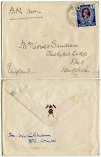 BURMA LOIMWE HILL STATION MILITARY ENVELOPE INFANTRY FRONTIER FORCE 1941
