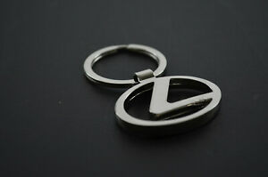 Stainless Key Ring Short Chain with Lexus Logo RX350 RX450 GS250 350 450
