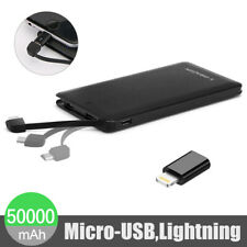 Ultra Thin 50000mAh Portable External Battery Charger Power Bank for Phone USA