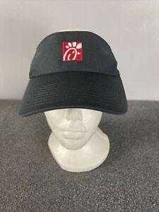 Chick Fil A Gray Red Visor Drive Through Team Style Employee Hat Uniform One Sz