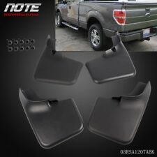 4PCS Mud Flap Splash Guard Mudguard With Fender Flares For Ford F-150 04-14