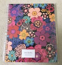 BRAND NEW IN PACKET VERA BRADLEY LARGE SPIRAL NOTEBOOK WITH POCKET FLORAL FIESTA