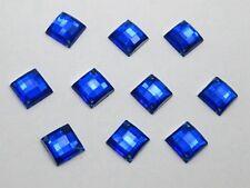 200 Royal Blue  Flatback Acrylic Square Sewing Rhinestone 8X8mm Sew on Beads