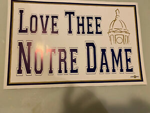 Love Thee Notre Dame Poster