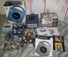 Nintendo GameCube Indigo Purple Console NTSC 10 Game Bundle 4 Remote Controllers
