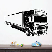 Mixer Truck Construction Lorry Wall Sticker WS-17111