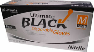Black Nitrile Gloves - Super Strong - Box of 100 - Latex Free
