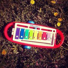 jouet ancien musical vintage xylophone a bille déco chambre enfant fisher price