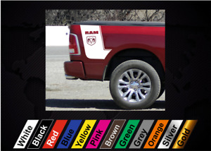 2pcs Sticker for Dodge RAM 1500 2500 3500 truck graphics bed side decal auto #3