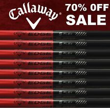 8 New Callaway Golf Edge Stiff Flex Graphite Iron Shafts .370 42""