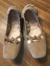 TOD'S Ballerinas Gr. 39,5/ 40 sand neuwertig Loafers Slipper Flats