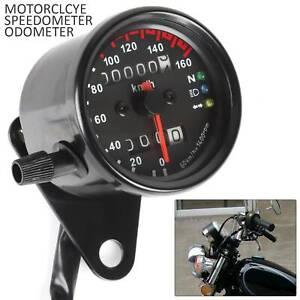 12V Motorrad Tacho Kilometerzähler Tachometer LED Kontrollleuchten Universal DE