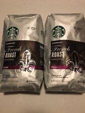New listing 2Pk Starbucks French Roast Dark Whole Bean 100%ArabicaCoffee 40 oz/2.5lb
