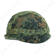 Original German Army Surplus Flecktarn Camo Helmet Cover Snow Reversible Airsoft