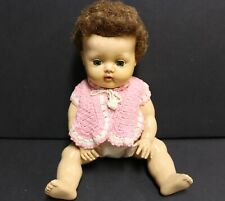 """Vtg American Character Doll Co Rubber Tiny Tears Baby #2675644 13"""" 50-60s."""