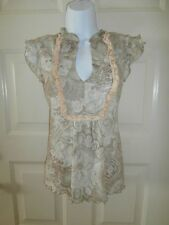 NWT NEW NORDSTROM SWEET PEA STACY FRATI TOP XSMALL NYLON STRETCH LINED XS