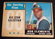 1968 Topps #374 VG+ 49 yr old ROBERTO CLEMENTE PITTSBURGH PIRATES Baseball Card