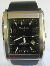 NEW PHILIP PERSIO IPS WATER PROOF DATE MEN WATCH
