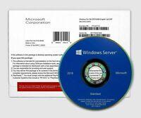 Microsoft Windows Server 2019 Standard 16CORE COA KEY with DVD + RDS 50 USER CAL