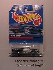 Hot Wheels Main 1963 63 FORD T-Bird Sports Roadster Black w/White #130 1/64 NEW!