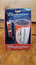 12oz Vintage Budweiser Frosty Mug Plastic w/ Beer Handles decor BSI brand New