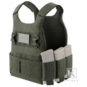 KRYDEX Low Vis Slick Plate Carrier Low Profile Tactical Armor Vest Ranger Green