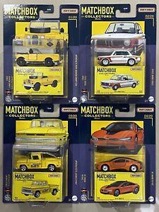 Matchbox Collectors 2021 #1-4 '65 Land Rover gen ii 1969 bmw 1963 Chevy 2016 bmw