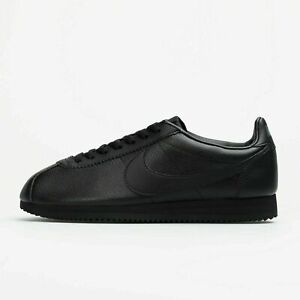 Nike Classic Cortez 749571-002 Sneaker Trainers Black Leather
