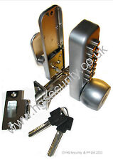 Push Button Combination Coded Door Lock with Key Override, for 65-80mm doors