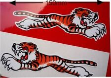 LEAPING TIGER Car & Bike STICKERS 150mm Pair TRIUMPH SUNBEAM Rootes Classic
