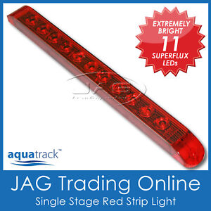 12V SUPERFLUX LED RED CABIN STRIP LAMP - Truck/Trailer/4x4/Parker/Caravan Light