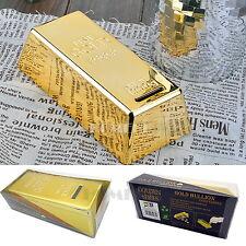 Gold Bullion Bar Money Bank Coin Box Saving Storage Piggy Tank Gift Novelty Kid