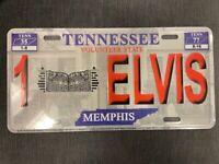 Elvis Presley Tennessee The King Metal License Plate