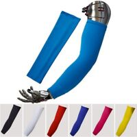 YEAR ROUND SPF50 LYCRA WHITE ARM LINERS WARMERS COOLERS M L XL ONLY LAST ONES !!