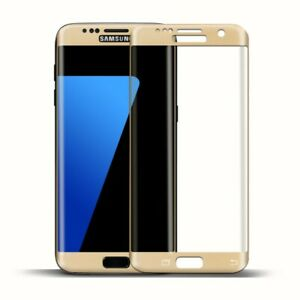 Full Cover Glas for Samsung Galaxy S6 Edge Glass Tempered Screen Protector Gold