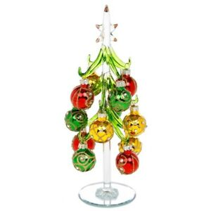 New Decorated 25cms large glass ornament Christmas Tree Baubles Jewel Free P&P